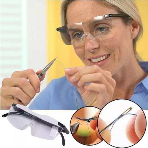 2 pares d lentes tipo big lupa + 2 lámparas led vision