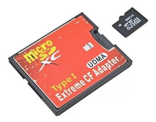Adaptador de memorias micro sd a cf tf a cf calidad