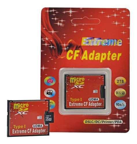 Adaptador de memorias micro sd a cf tipo i camaras teclados