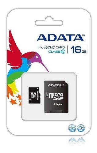 Adata memoria micro sd hc 16gb clase 4 celulares 4mb/s