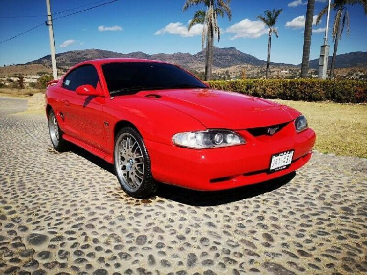 Ford mustang gt nacional, mod. 1997, color rojo, ¡súper