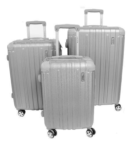 Juego 3 maletas rigidas viaje equipaje mano ruedas moderna
