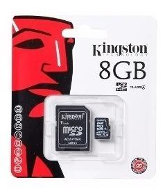 Lote: 50 memorias micro sd 8gb kingston c/adaptador sdc4/8gb