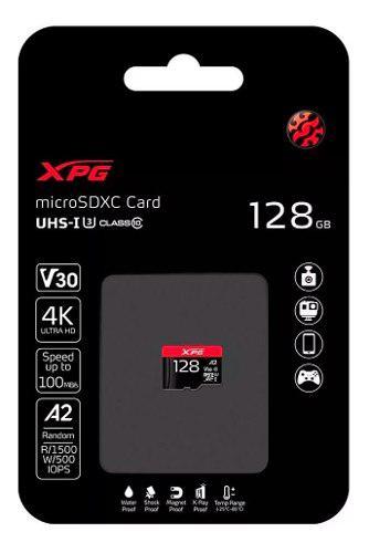 Memoria micro sd 128 gb gaming a2 100/85mps v30 4k uhd adata