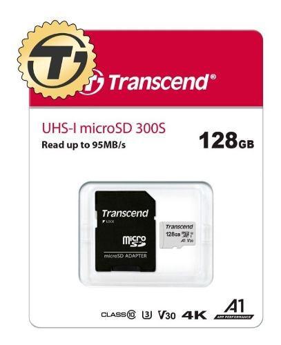 Memoria micro sd 128gb transcend para dron 4k uhd 1080p