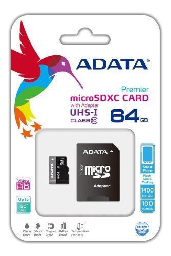Memoria micro sd adata clase 10 64gb