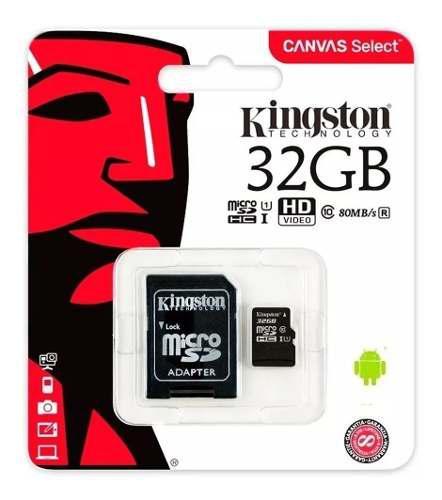 Memoria micro sd kingston hc 32gb clase 10 ultra mobile