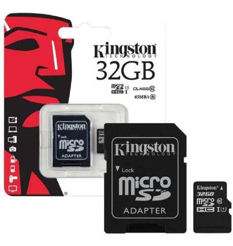 Memoria micro sd kingston sdcs de 32 gb clase 10