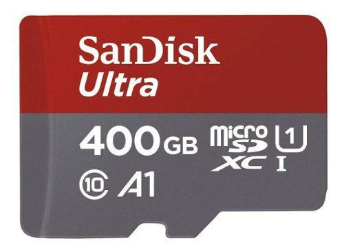 Memoria micro sd sandisk 400gb 100 mb/s, celular tablet fhd