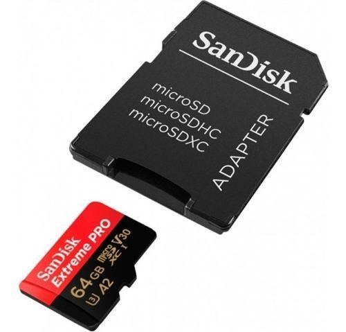Memoria micro sd sandisk extreme 64gb gopro 4k 170mb