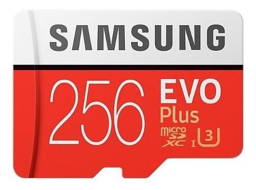 Memoria Micro Sdxc Evo Plus Samsung 256gb 100mb/s U3 Sellada