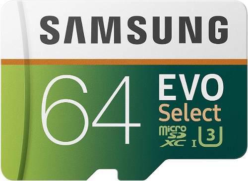 Memoria micro sdxc samsung evo select 64gb clase 10 uhs 4k