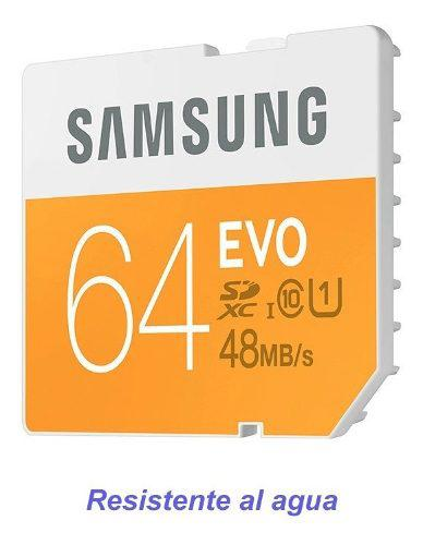 Memoria sd 64gb tarjeta samsung 64 gb galaxy micro fotos tf