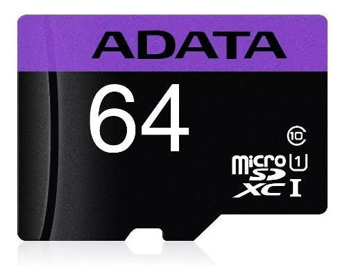 Micro sd 64gb adata clase 10 envío gtis adaptador tecnowow