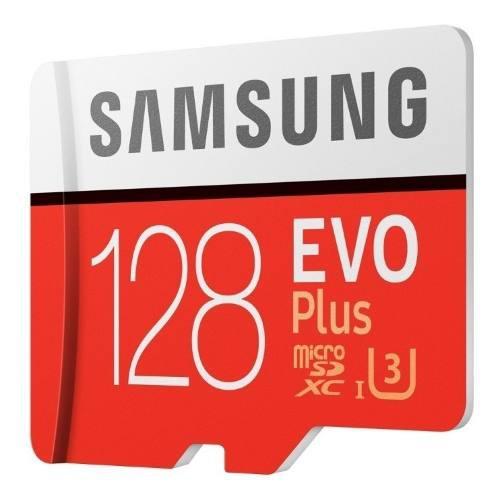 Micro sd samsung evo plus 128 gb memoria clase 10 100m/s u3