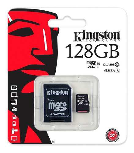 Micro sd-xc kingston cl 10 128 gb galaxy motorola huawei