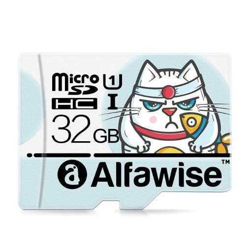 Microsd 32gb alfawise clase10 ui 80mb/s camaras 4k celular