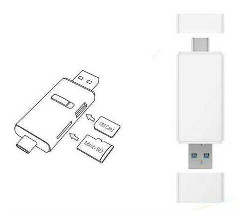 Nm nano tarjeta de memoria micro sd sim lector usb 3.1 para