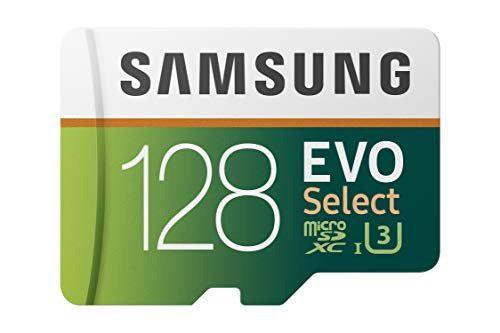 Samsung 128gb 100mb s u3 microsd evo seleccionar tarjeta