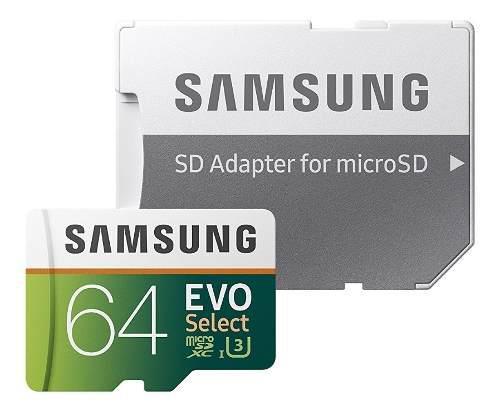 Samsung evo 64gb 100m/s 4k microsd memoria micro sd u3