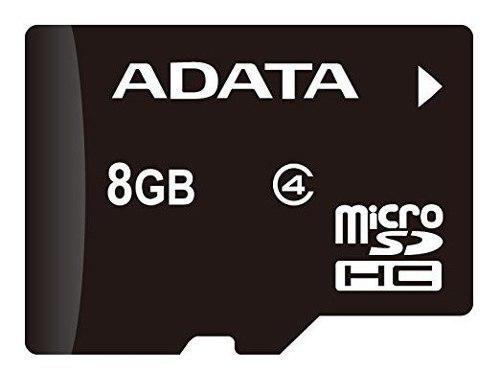 Tarjeta de memoria adata 8gb microsdhc class 4 con adaptador