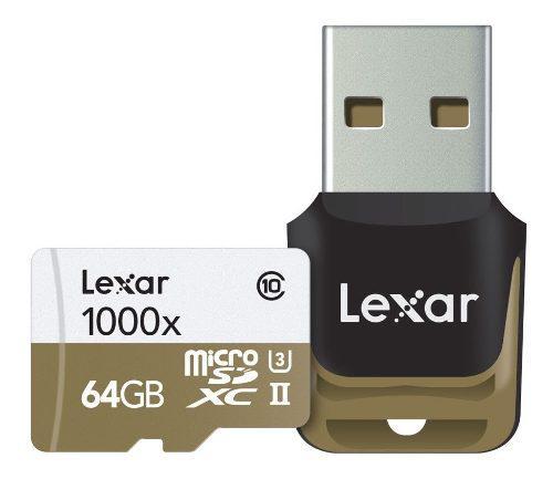Tarjeta de memoria lexar 64gb microsd class 10 u3