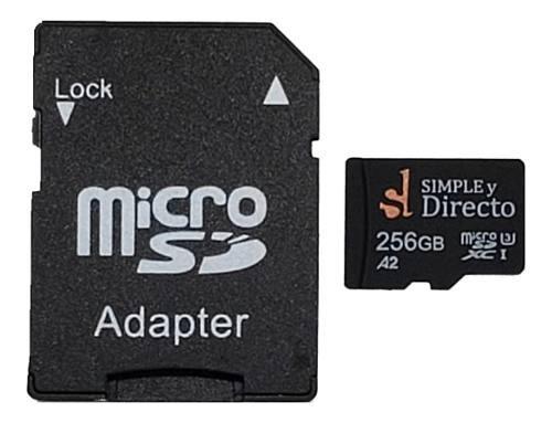 Tarjeta de memoria micro sd 256gb clase 30 a2 xc adaptador