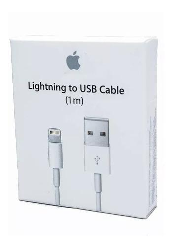 Cable cargador original lightning 1m iphone 5,6,7,8,x,11 pro