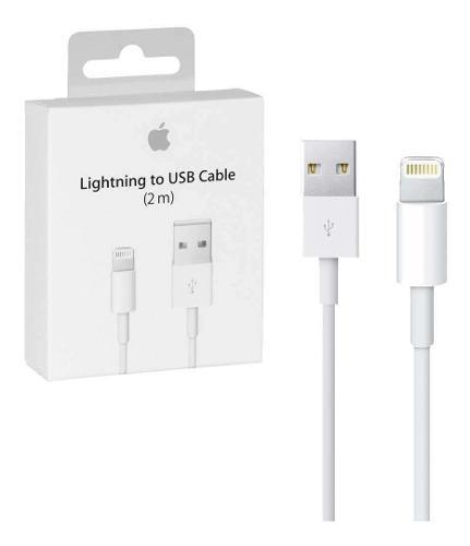 Cable iphone 2m usb origina 10 pieza mayoreo