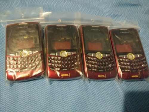 Carcasa blackberry 8350i roja/red nextel
