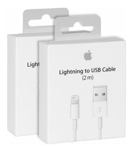 Mayoreo! cable cargador lightning iphone 2m (min 10 piezas)