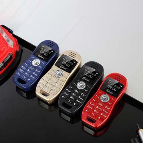 Mini móvil teléfono personalidad coche deportivo dual