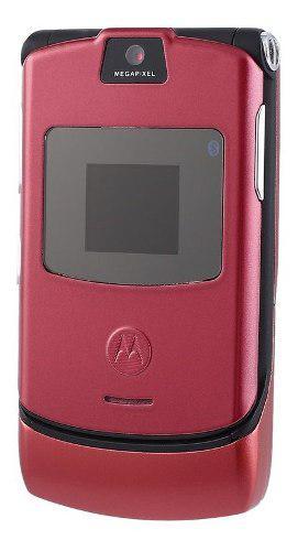 Motorola razr v3 gsm desbloqueado teléfono móvil