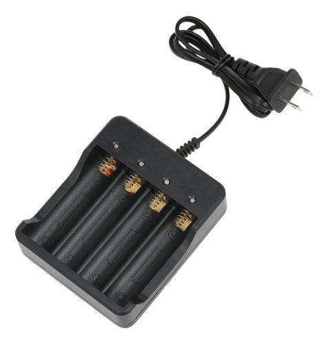 Cargador batería universal de 4 slots 18650 li - ion