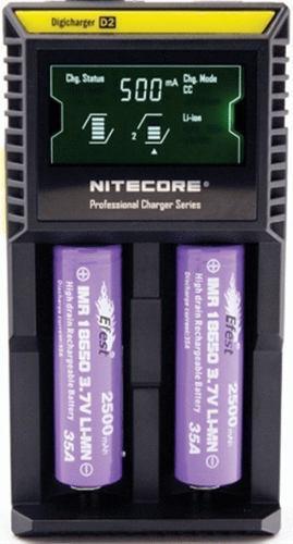 Cargador baterias nitecore d2 digital pantalla lcd 18650