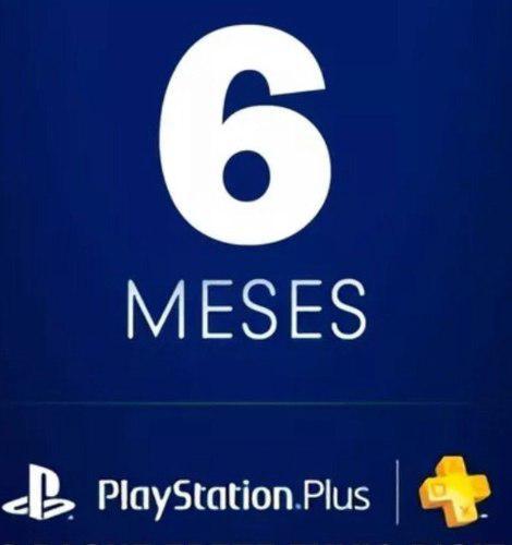 Playstation ps plus 6 meses ps4, psn, envió inmediato
