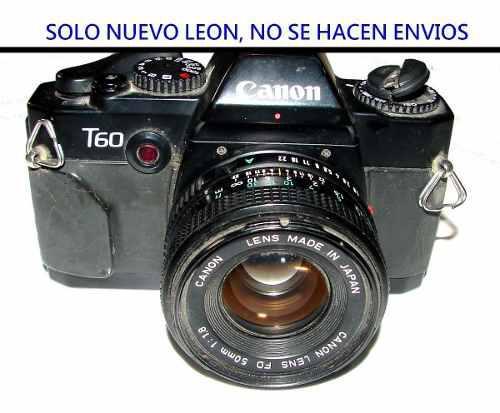 Camara fotografica retro analoga canon t60 - solo nuevo leon