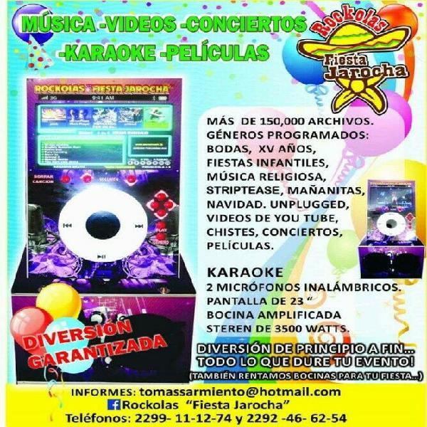 Renta de rockola karaoke fiesta jarocha
