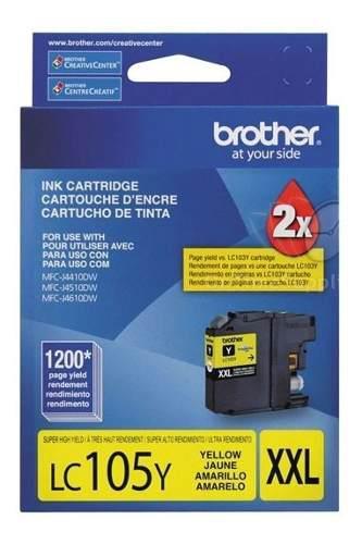 Tinta brother lc105y amarillo 1200 paginas super alto rend