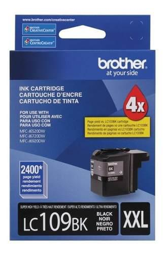 Tinta brother lc109bk negro súper alto rendimiento