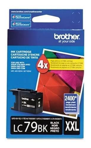 Tinta brother lc79bk negro 2400 pag súper alto rendimiento