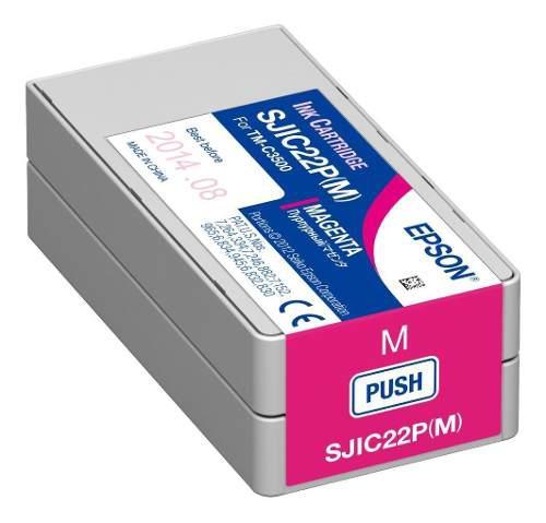 Tinta epson sjic22p(m) magenta c33s020582 colorworks c3500