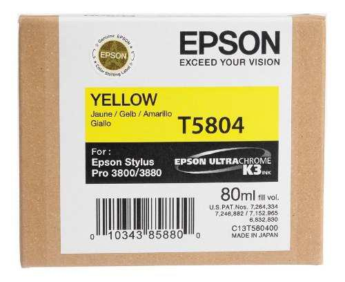 Tinta epson t5804 t580400 color amarillo