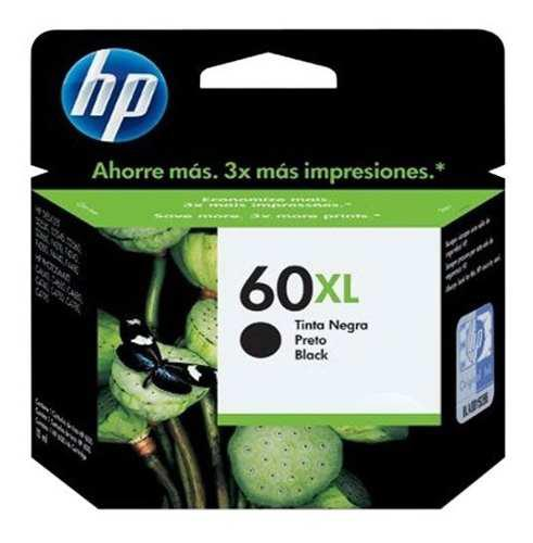 Tinta hp 60xl cc641wl color negro
