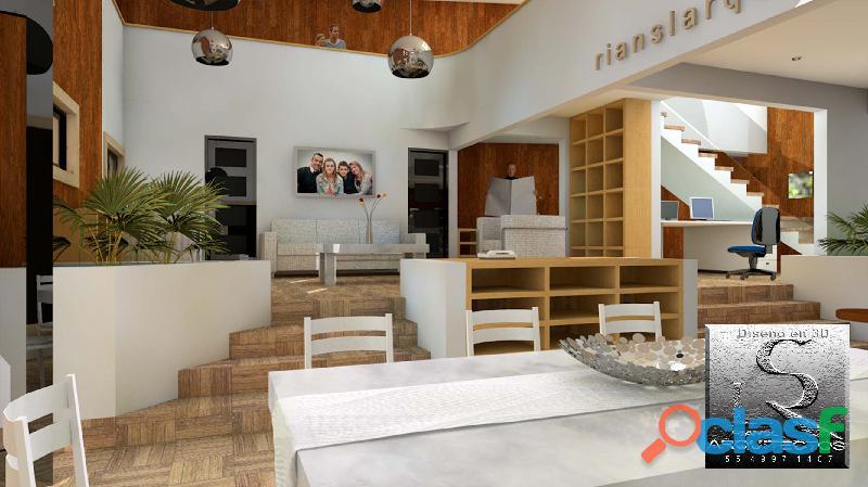 Diseño de casa habitación en 3d $2000 pesos cdmx