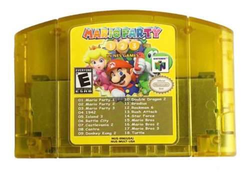 Cartucho de juegos 18 en 1 para consola nintendo n64 usa
