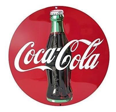 Coca cola coca cola redonda retro vintage troquelada embosse