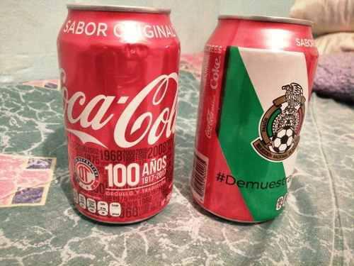 Coca cola colección 100 años toluca y selección mexico