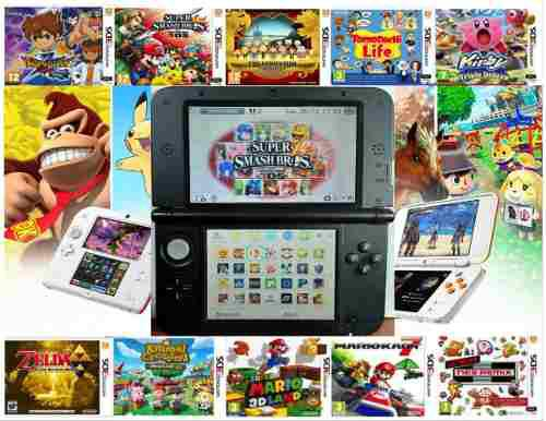 Nintendo 3ds xl 64gb+50 games+ 5800 clasicos.