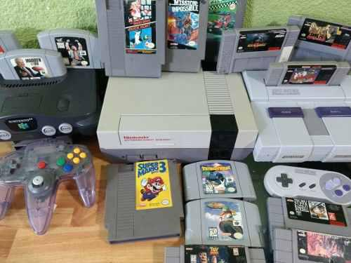 Nintendo nes consolas nes,snes,64 juegos